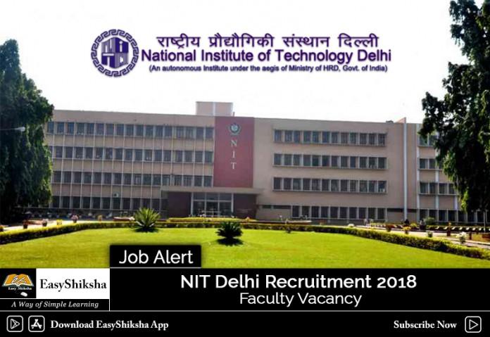 NIT Delhi, recruitment, jobs