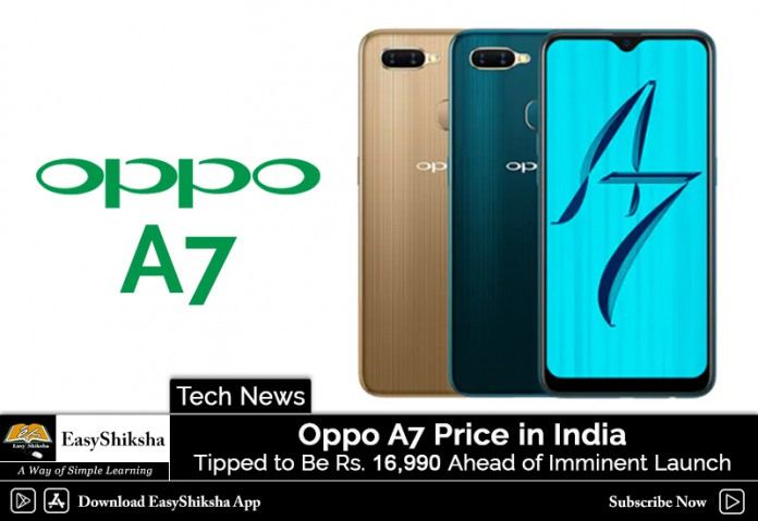 OPPO A7, price, specification