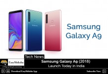 Samsung Galaxy A9 Launch, Price in India, Specification