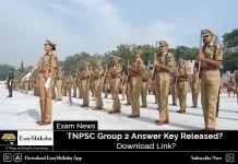 TNPSC Group 2 2018, Answer Key