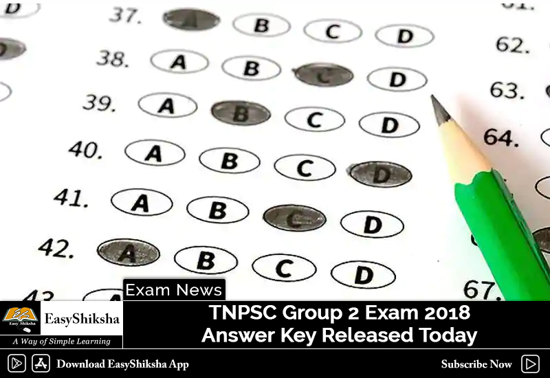 tnpsc group 2 exam 2018 answer key released today