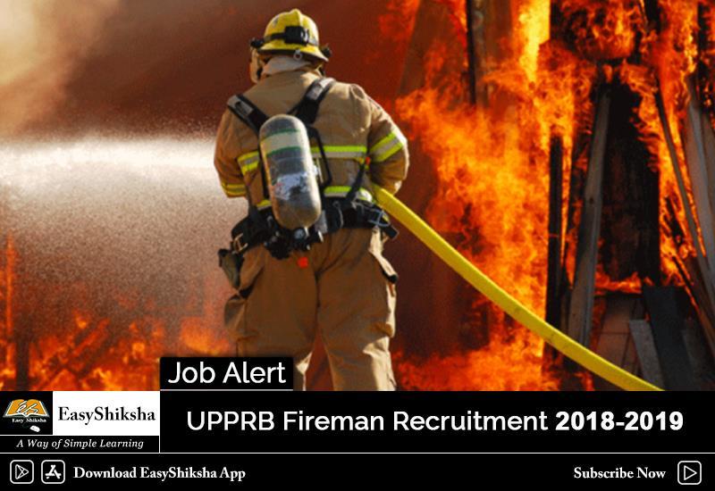 UPPRB Fireman Recruitment 2018-2019: Application Fee