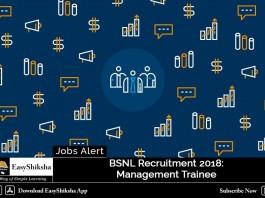 BSNL Recruitment 2018