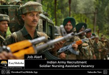 Indian Army Nursing Assistant Recruitment