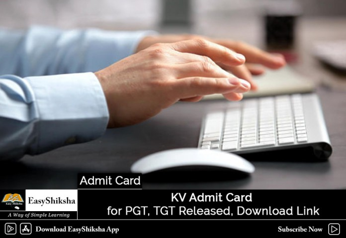 KV Admit Card, KVS Admit Card