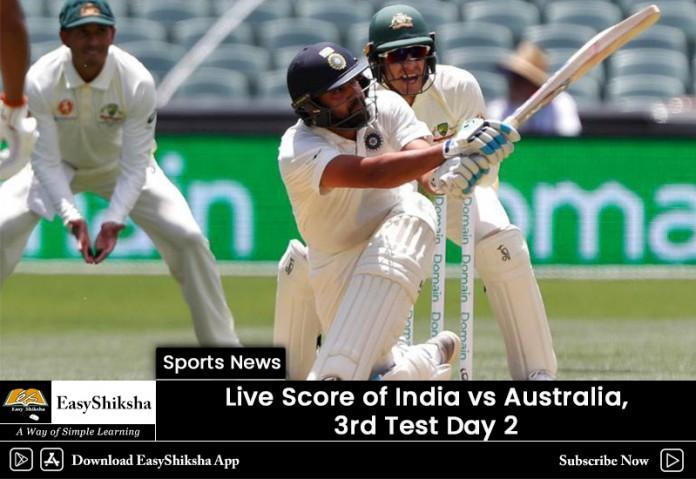 India vs Australia, live score