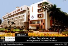 MECON Management Trainee Recruitment