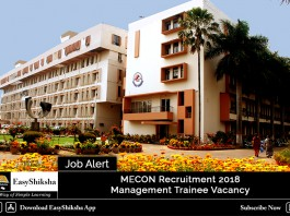 MECON Management Trainee Recruitment