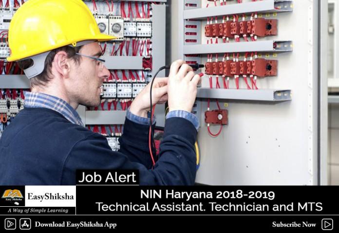 NIN Technical Assistant Job, NIN Technician Job, NIN MTS Job