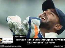 Rishabh Pant stays through R Ashwin in Pat Cummins' ear over