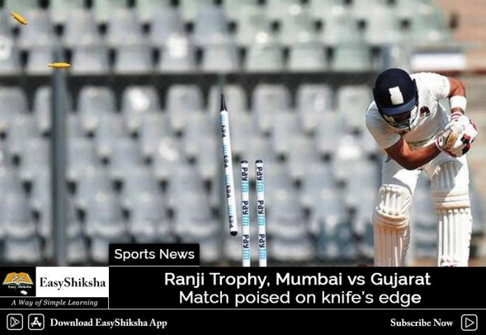 Ranji Trophy: On the final day, Gujarat vs Mumbai game on a knife-edge