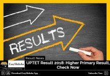 UPTET Result 2018, UPTET Higher Primary Result 2018