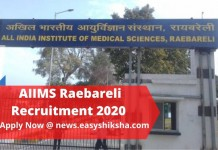 AIIMS Raebareli Recruitment