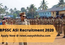 BPSSC ASI Recruitment