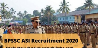 BPSSC ASI Recruitment