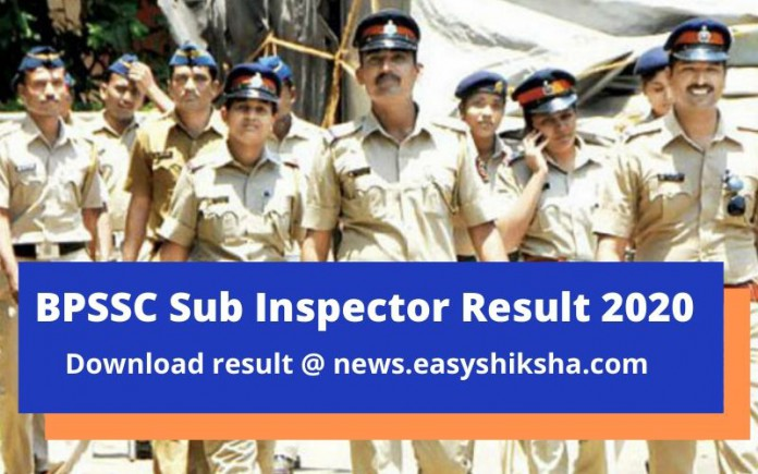 BPSSC Sub inspector Result
