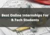 Online Internships for B.tech students
