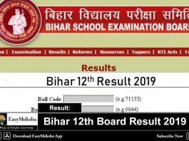 Bihar 12th Board Result 2019