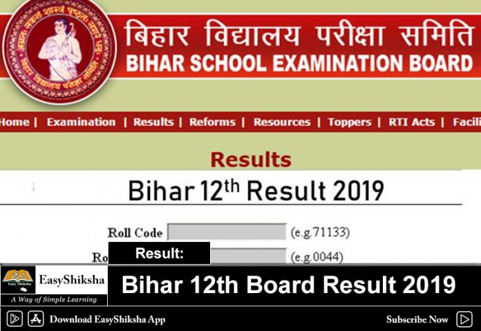 Bihar 12th Board Result 2019