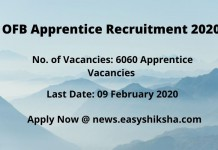 OFB Apprentice Recruitment 2020