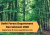 Delhi Forest Department Recruitment