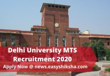 Delhi University MTS Recruitment