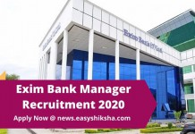 Exim Bank Manager Recruitment