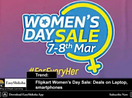 Flipkart Womens day sale, offers
