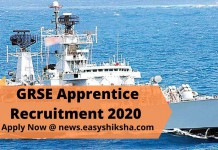 GRSE Apprentice Recruitment