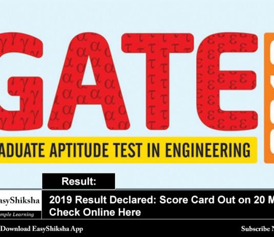Gate 2019 Result