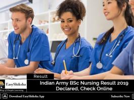 Indian Army BSc Nursing