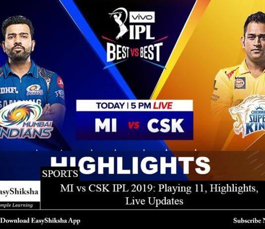 MI vs CSK IPL 2019
