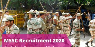 MSSC Recruitment