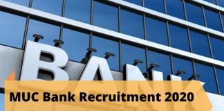 MUC Bank Recruitment