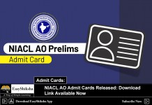 NIACL AO Admit Cards