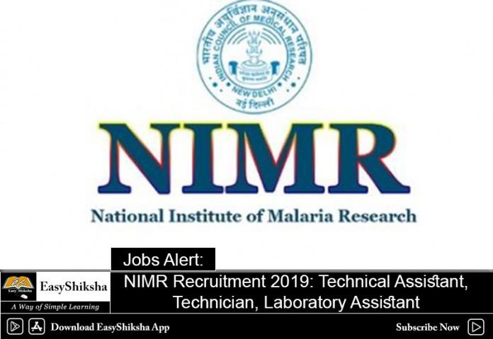 NIMR Recruitment 2019