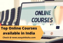 Online Courses available in India