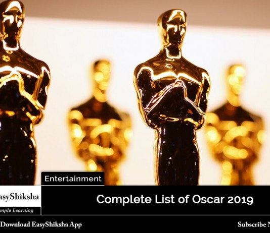 oscar 2019, winners list
