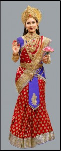 Puja Banerjee essaaying the role of Maa Vaishno Devi in the show