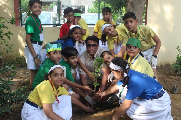 Rakesh Daultabad planting NASA
