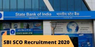 SBI SCO Recruitment