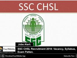 SSC CHSL, Recruitment 2019