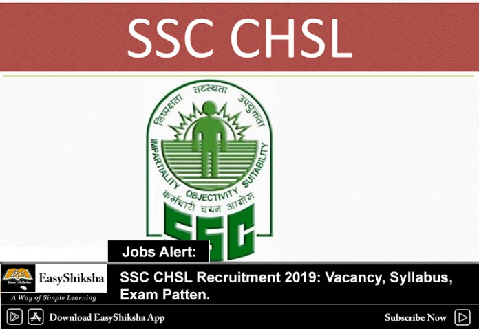 SSC CHSL, Recruitment 2019
