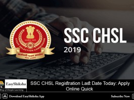 SSC CHSL Registration, Last Date