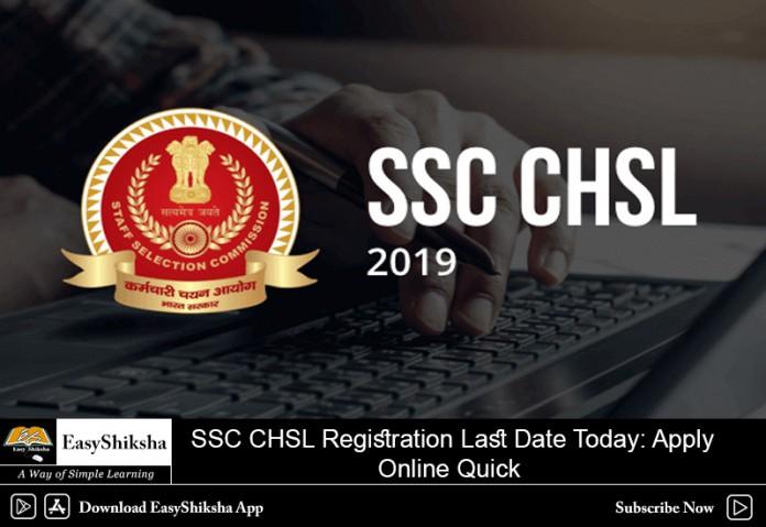 SSC CHSL Registration, Last Date