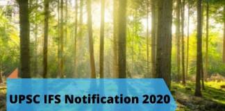 UPSC IFS Notification