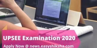UPSEE Exam 2020